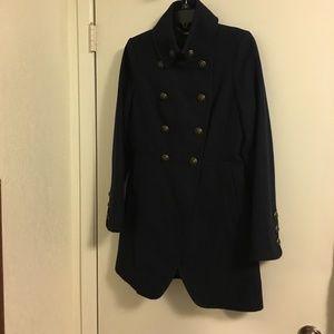 Worthington  Navy Double Breasted Wool Coat M